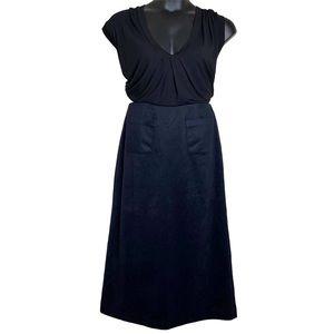 a.cheng Navy Cashmere  A-line Midi Skirt 10